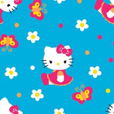 butterfly on blue hello kitty