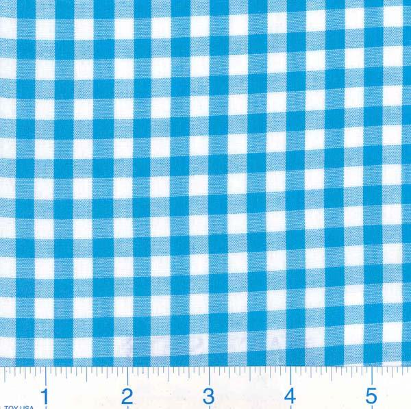 gingham polyester cotton blend (high stock)